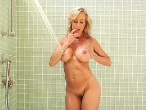 Ravishing blonde milf with big hooters has wild sex with a young stud