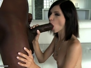 White girl takes so much black cock in her ass she screams