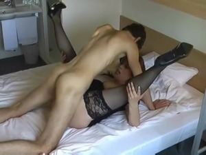mature woman with young boy (swallowing)