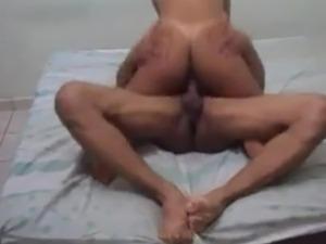 Man Handling Her As She Rides
