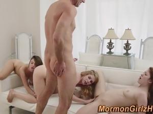 Teen mormon group fuck