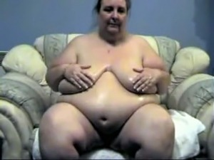 Huge and fat granny masturbating in disgusting solo video