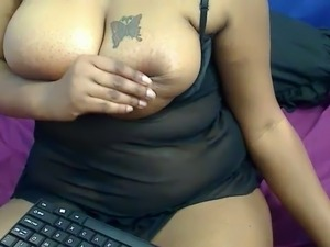 Extremely horny busty chubby whore demonstrated her really bushy pussy