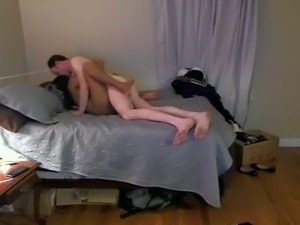 Pale dude licks pussy of his naughty black girlfriend