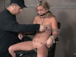 Submissive blonde Sasha Heart is always up for being punished