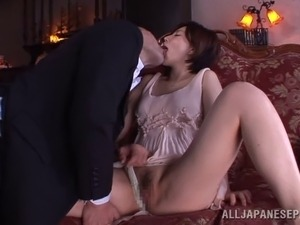 A fun Asian couple having hardcore sex all over the house