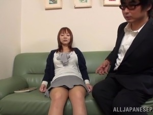 Charming Mature Japanese lady strips,blows and fucked doggystyle