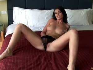 Beautiful milf in a hotel room for a wild gangbang