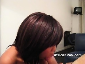 African amateur chick blowjob doggy fuck interracial