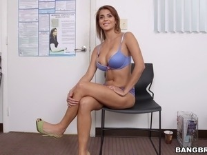 A Latina MILF strips down and enjoys some nice, thick cock