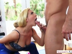 Fantastic beauty Cherie Deville bouncing big booty in a cowgirl position
