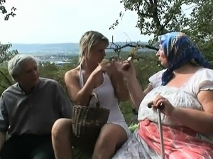 Voyeuristic blonde with old couple Arlean from 1fuckdatecom