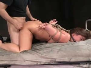 BBC fucks red haired bitch Maddy O Reilly and makes her groan with pain
