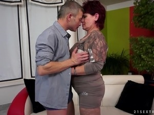 Beautiful granny giving big cock blowjob before  getting banged doggystyle