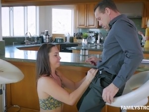 Geneva King seduces a handsome hunk for a great sex session