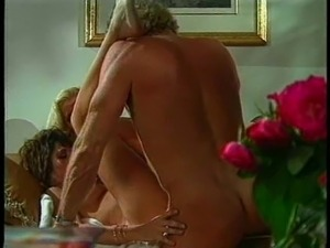Vintage milfs get fucked in doggy style before getting a cum shot