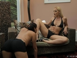 Insatiable MILF gets rough and naughty with a young bombshell