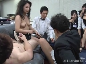 Nasty Asian MILF loves playing with pussies as well as cocks