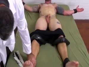 Dirty fetish gay clips and cute black jail porn Tattooed  muscle hunk