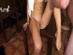 Amateur ebony couple fuck the floor Hungry Woman Gets Food and Fuck