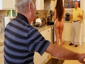 Euro babe old man and teach young Chillin with a steamy Tamale!