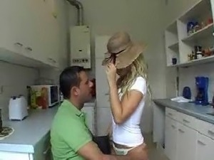 Wife gets fucked in the kitchen