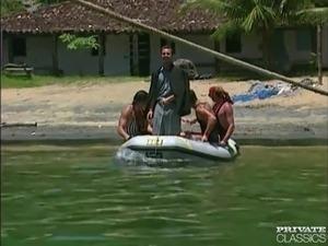 Anal Orgy in a Boat wiht the Brazilian 'Garotas'