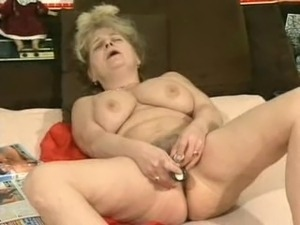 Superb looking Russian older woman masturbating and fucking