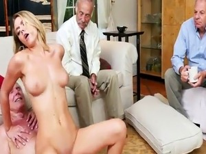 Blonde girl gets fucked by you Glen invited the old squad over for a s