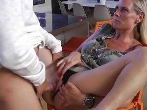 German milf in her first porn movie