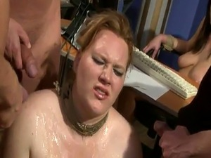 Curvy slave humiliated and doublepenetrated