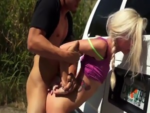Male slave humiliation and rough sex movie Halle Von is in town on vac