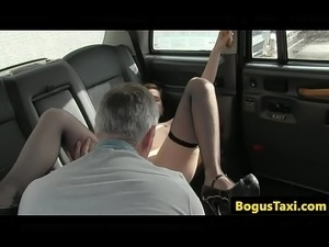 European babe fucked by her taxi driver