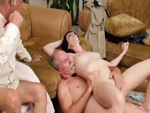 Young college amateur and 60 plus anal She ends up pummeling both of o