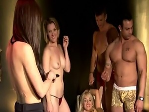 Sexy swingers spending time together