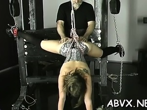 Naked doll excellent fetish slavery sex scenes with old man