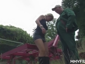 Girls naked outdoors