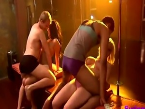 Horny swinger guys are banging bad bitches during orgies