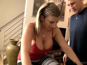 Sara Jay is more than enough to make this guy horny as hell