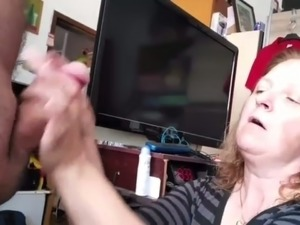 This woman is a very naughty whore who knows how to suck a dick on camera