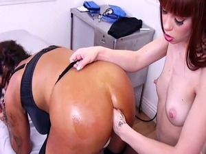 Redhead patient anal toys and fists nurse