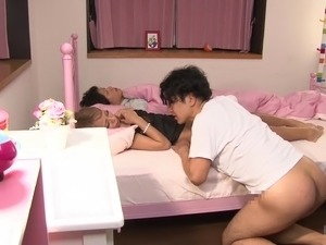 Japanese MILF Reika Aiba fucking while her husband is sleeping