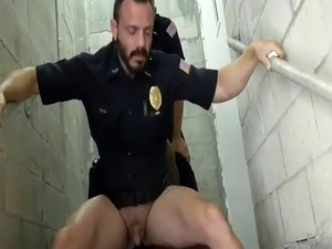Hun gay police and dick movietures Fucking the white police with some