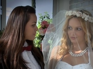 Lesbian brides make the most out of their first night married