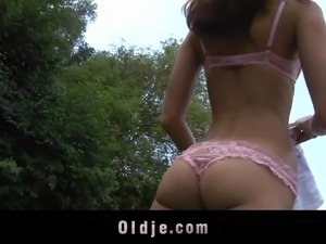 japanese outdoor bikini strip video