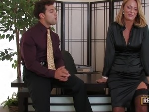 Milf Brenda James Knows what an After Office means
