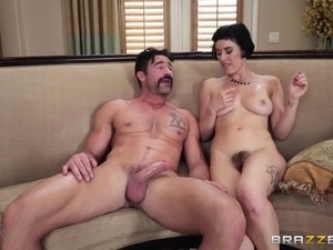 Very skilled slut Olive Glass cheating on her husband in her house