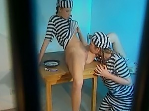 Fervent jailed bitches with juicy big tits are so into pleasing wet slits