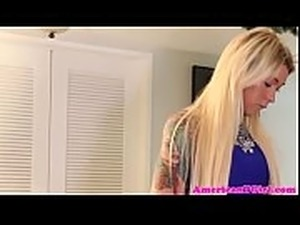 Guy deepthroats blonde tgirl before riding