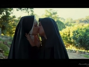 Sinful nun Charlotte Stokely is so into teasing her own hungry pussy